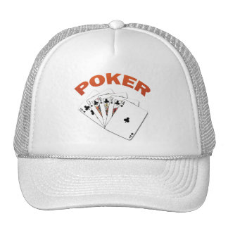 POKER ROYAL FLUSH HATS
