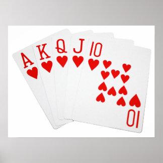 Poker Royal Flush Poster