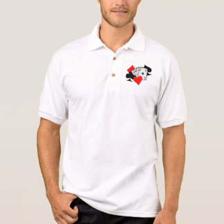 Poker signs cards polo t-shirt