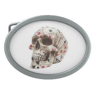 Poker Skull Belt Buckle