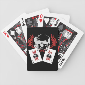 Poker Skulls with Aces Cards