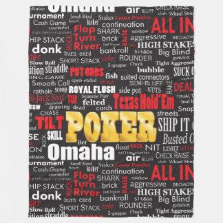 Poker Slang Fleece Blanket