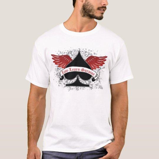 Poker Spade Red Wings T-Shirt