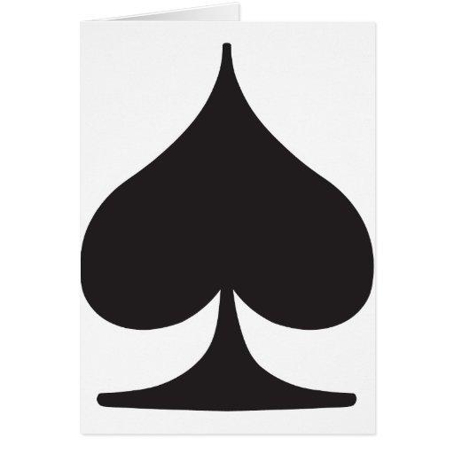 Poker Spade Suit Gambling Greeting Card