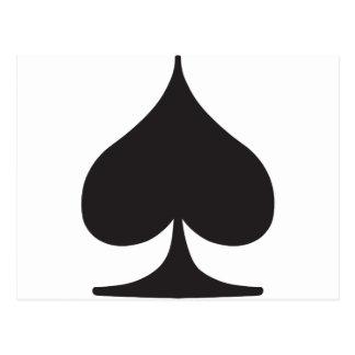 Poker Spade Suit Gambling Postcard