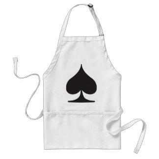 Poker Spade Suit Gambling Standard Apron
