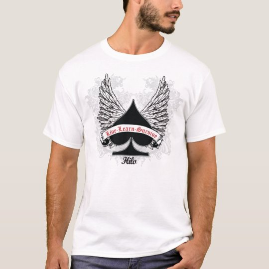 Poker Spade White Wings T-Shirt