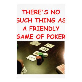 poker stationery
