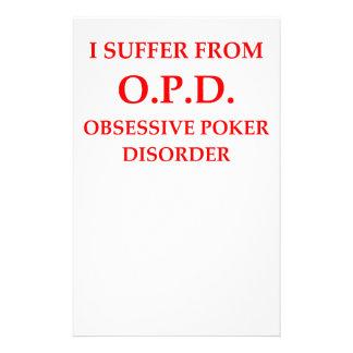 poker customized stationery