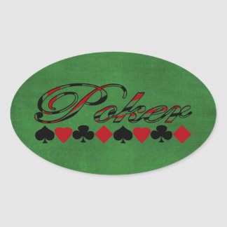 Poker Oval Stickers
