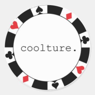 poker round stickers
