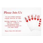 Poker Straight Flush Invitations