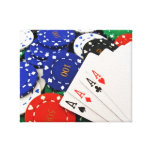 Poker Stretched Canvas Prints