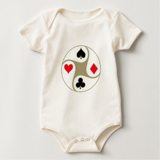 Poker Suit Baby Romper