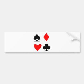 Poker Suite Bumper Sticker
