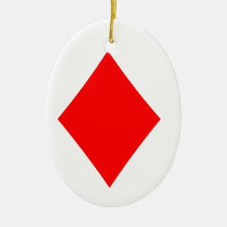 Poker Suite Diamond Christmas Ornament