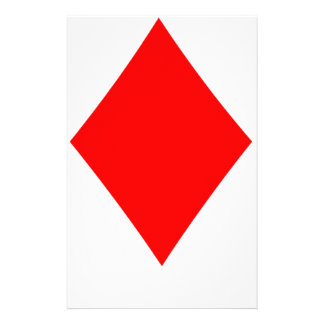Poker Suite Diamond Personalised Stationery