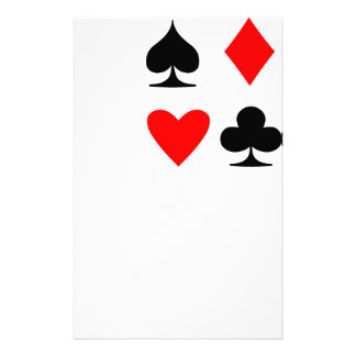 Poker Suite Personalized Stationery