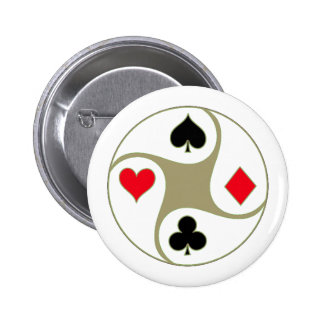 Poker Suits Pinback Button
