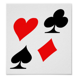 Poker suits posters