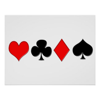 Poker Suits Poster