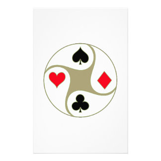 Poker Suits Stationary Paper Custom Stationery