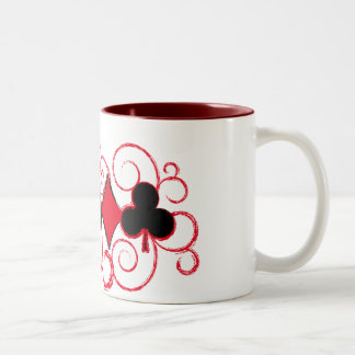 Poker Swirls Suits mug