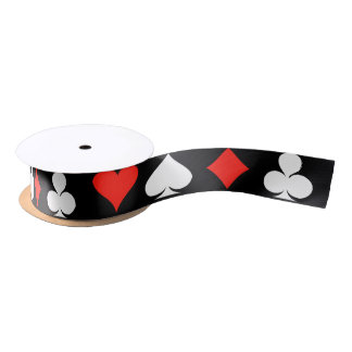 Poker Symbols Satin Ribbon