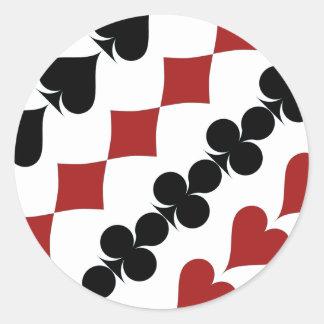 Poker Symbols Round Sticker