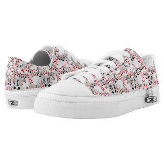 Poker, Tens In A Layered Pattern Zipz Unisex Shoes Printed Shoes