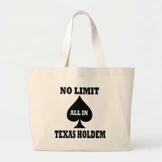 Poker - Texas Holdem Large Tote Bag