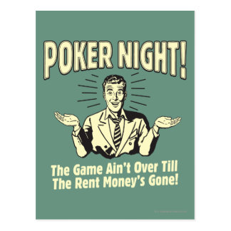 Poker: The Game Ain't Over Postcard