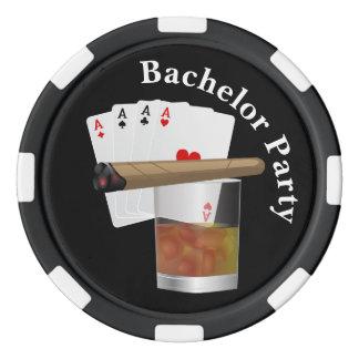 Poker Theme Bachelor Party Invite Poker Chip