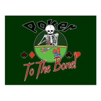 Poker To The Bone! Postcard