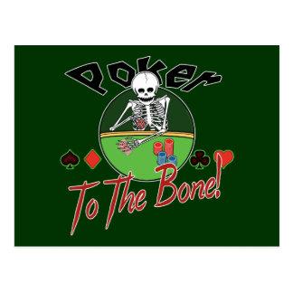 Poker To The Bone! Postcard
