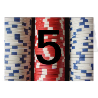 Poker tournament table numbers greeting card