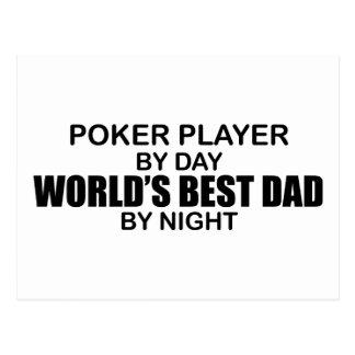 Poker World's Best Dad by Night Postcard