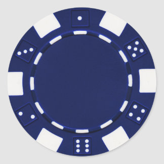 pokerchip sticker  blue