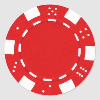 pokerchip sticker red