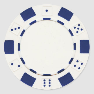 pokerchip sticker white