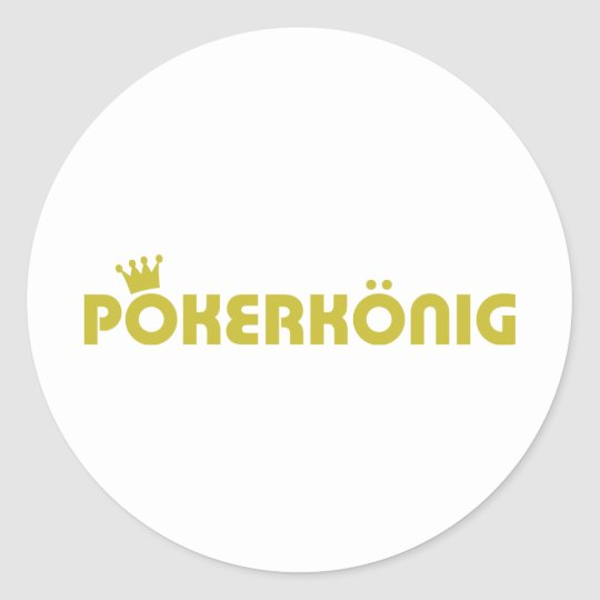pokerkönig icon classic round sticker