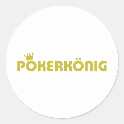 pokerkönig icon round sticker