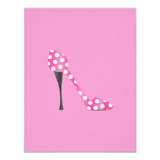Poky Dot High Heel Card