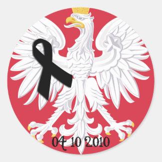 Poland 04/10/2010 classic round sticker