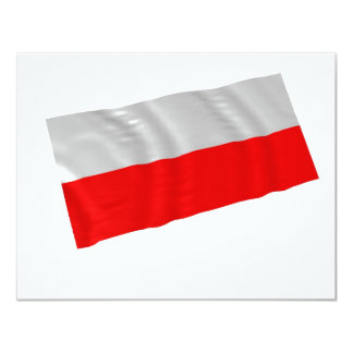 poland 11 cm x 14 cm invitation card