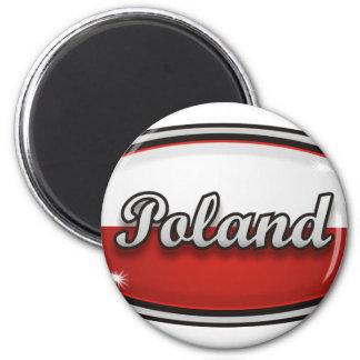 Poland 6 Cm Round Magnet