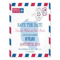 POLAND Airmail Save the Date