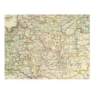 Poland and Lithuania 1125-1386 Postcard