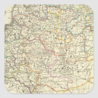Poland and Lithuania 1125-1386 Square Sticker