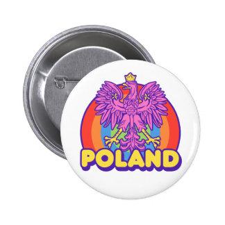 Poland 6 Cm Round Badge